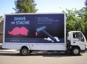 "Uber's anti-Lyft ""Shave the Stache"" campaign"